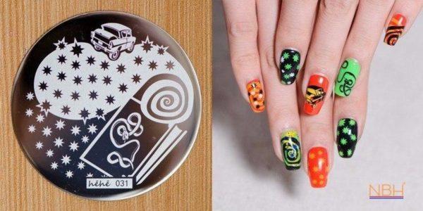 Stamping Plate 031 / nagel stempel- sjabloon