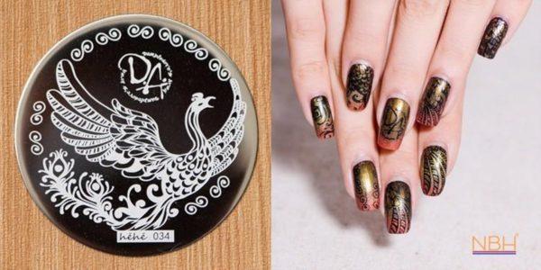 Stamping Plate 034 / nagel stempel- sjabloon