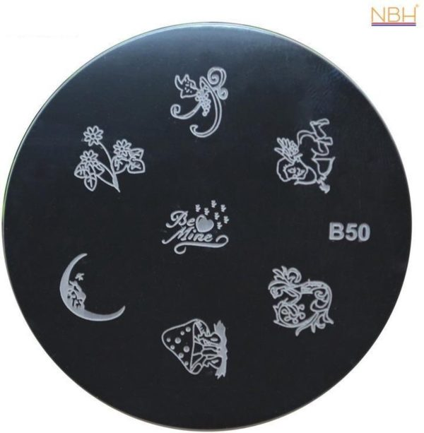 Stamping Plate 050 / nagel stempel- sjabloon