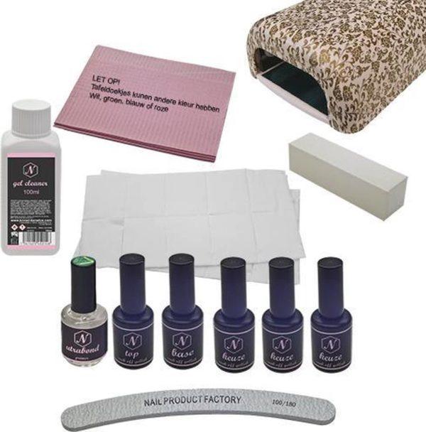 Standaard gellak pakket - GOUD Gel nagels- Gelnagellak