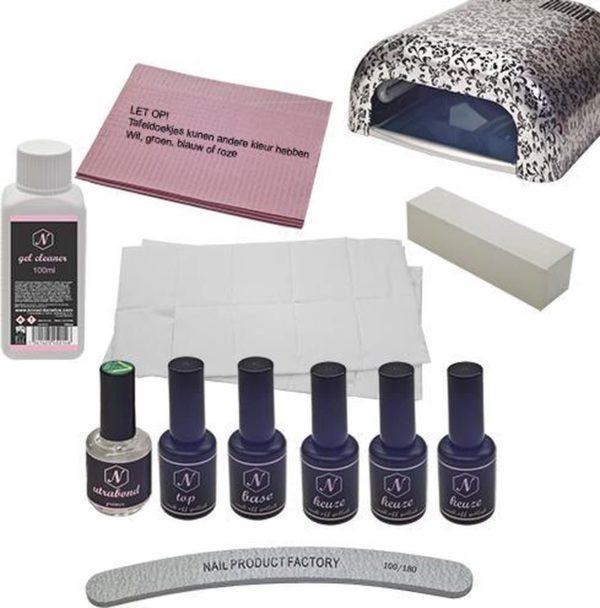 Standaard gellak pakket - ZILVER - Gel nagels- Gelnagellak