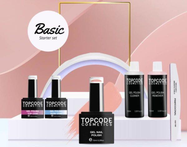 TOPCODE Cosmetics Gel nagellak starterspakket - Basic Starter Set - Gellak #MCBS03 - incl. 1 nude kleur