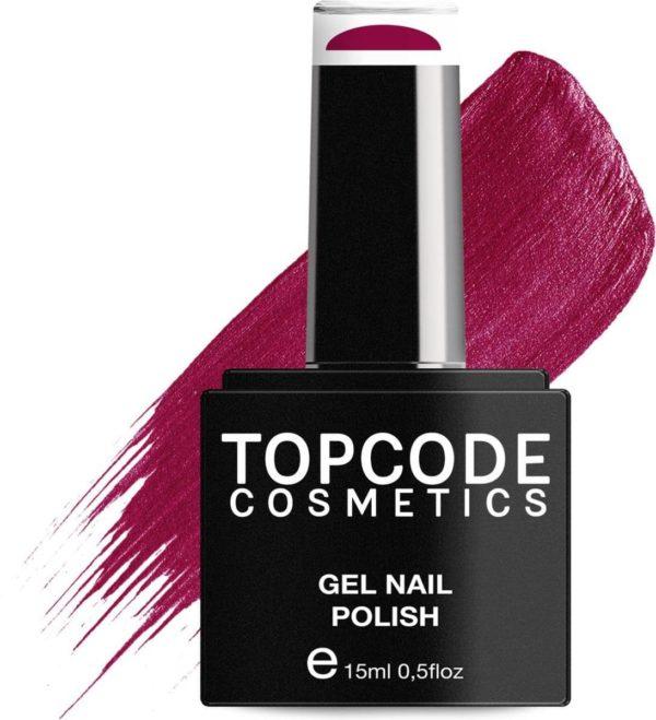 TOPCODE Cosmetics Gellak - Bright Maroon - #MCRE31 - 15 ml - Gel nagellak