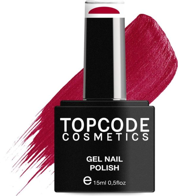 TOPCODE Cosmetics Gellak - Lipstick Red - #MCRE12 - 15 ml - Gel nagellak