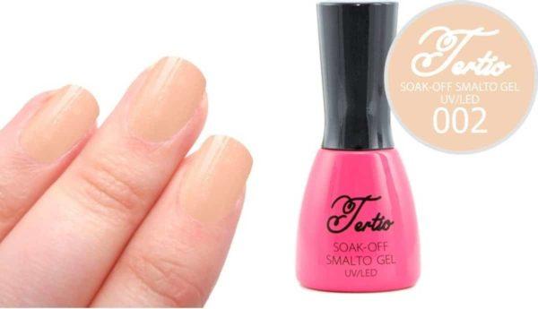 Tertio #002 Nude Beige Glitter - Gel nagellak - Gelpolish - Gellak