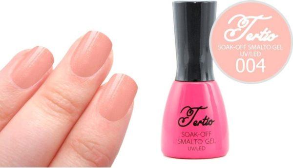 Tertio #004 Roze Nude Glitter - Gel nagellak - Gelpolish - Gellak