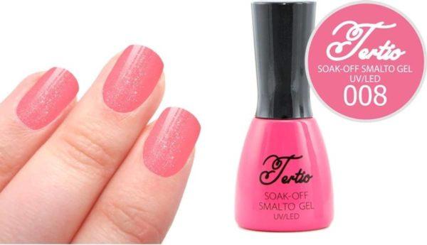 Tertio #008 Roze Glitter - Gel nagellak - Gelpolish - Gellak