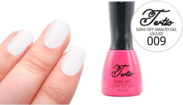 Tertio #009 Off White Glitter - Gel nagellak - Gelpolish - Gellak