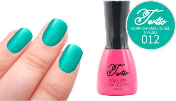 Tertio #012 Blauw Groen Glitter - Gel nagellak - Gelpolish - Gellak