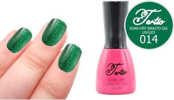 Tertio #014 Groen Glitter - Gel nagellak - Gelpolish - Gellak