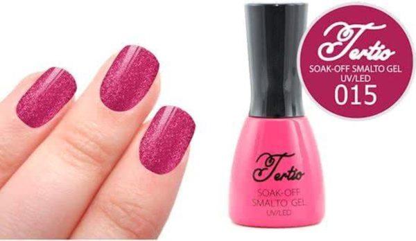 Tertio #015 Roze Paars Glitter - Gel nagellak - Gelpolish - Gellak