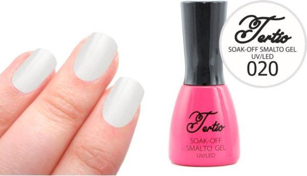 Tertio #020 Off White Glitter - Gel nagellak - Gelpolish - Gellak