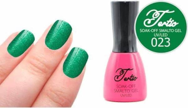 Tertio #023 Groen Glitter - Gel nagellak - Gelpolish - Gellak