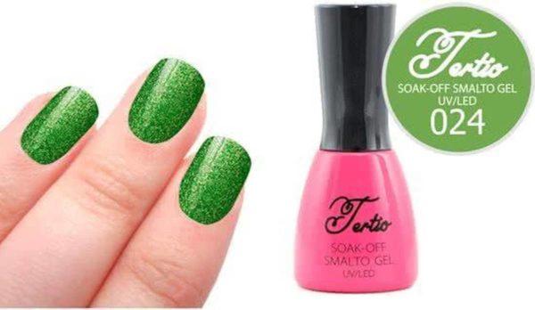 Tertio #024 Groen Glitter - Gel nagellak - Gelpolish - Gellak