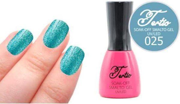 Tertio #025 Blauw Glitter - Gel nagellak - Gelpolish - Gellak