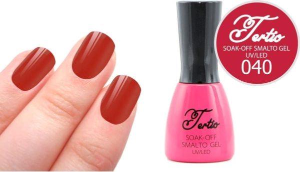 Tertio #040 Rood Oranje - Gel nagellak - Gelpolish - Gellak
