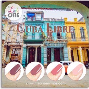 The Little One Cuba Libre Color Gellak Set - 4-delig - 7ML - Rood, Nude, Roze kleuren - voor UV & LED lamp
