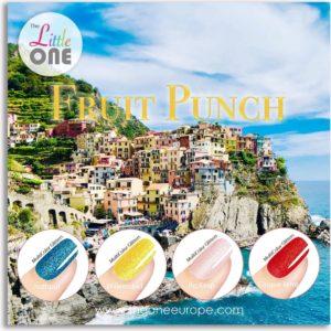 The Little One Fruit Punch Color Gellak Set - 4-delig - 7ML - Rood, Roze, Geel, Blauw kleuren - Glitter - voor UV & LED lamp