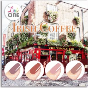The Little One Irish Coffee Color Gellak Set - 4-delig - 7ML - Rood, Nude kleuren - voor UV & LED lamp