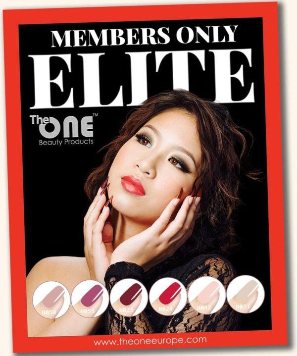 The One Elite Pro Color Gellak Set - 6-delig - 15ML - Rood, Paars, Nude, Roze kleuren - voor UV & LED lamp
