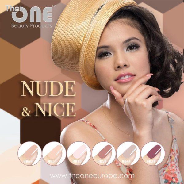 The One Nude & Nice Pro Color Gellak Set - 6-delig - 15ML - Nude kleuren - voor UV & LED lamp