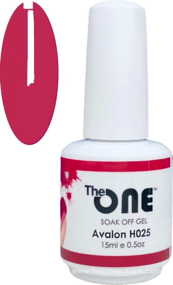 The One Pro - Gellak 15ml - kleur Avalon Paars H025