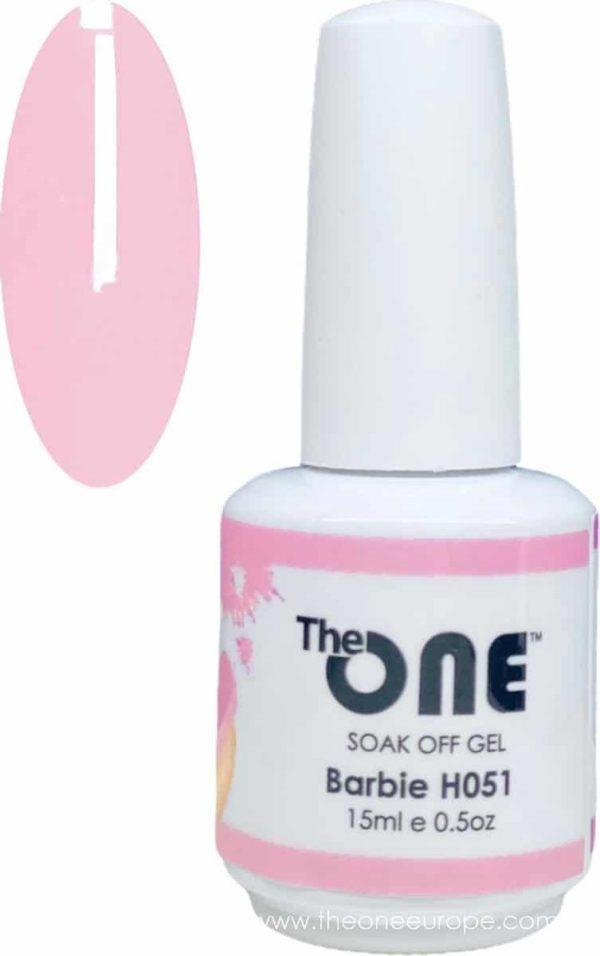 The One Pro - Gellak 15ml - kleur Barbie Neutrale H051