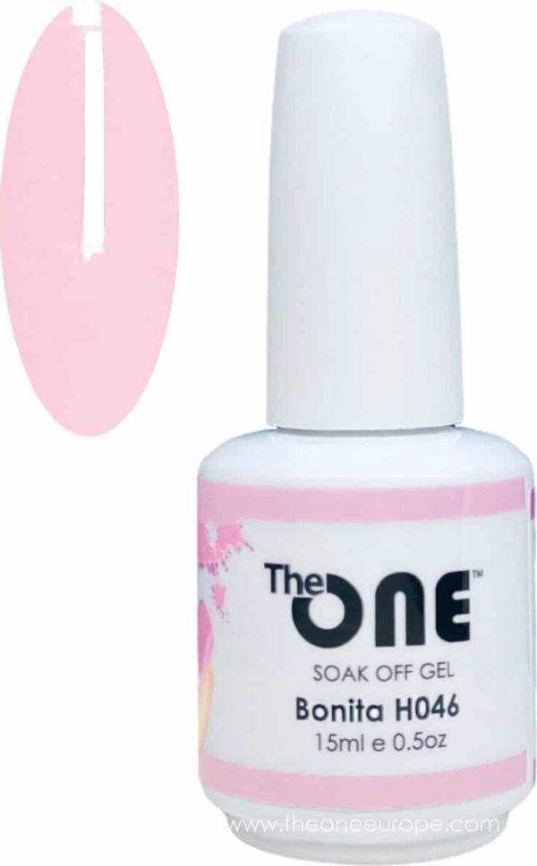 The One Pro - Gellak 15ml - kleur Bonita Roze H046
