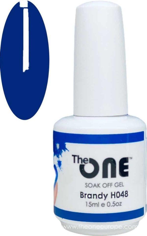 The One Pro - Gellak 15ml - kleur Brandy Blauw H048