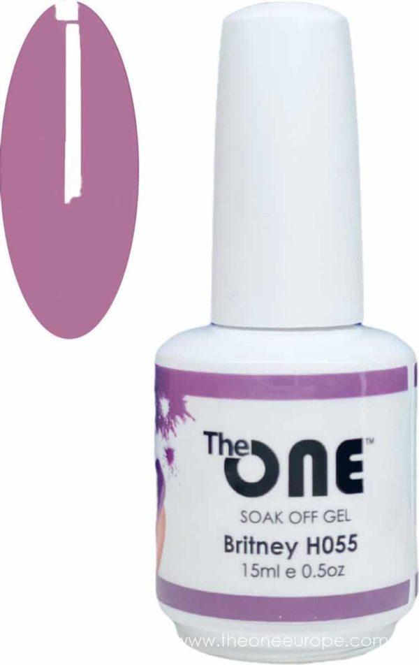The One Pro - Gellak 15ml - kleur Britney Paars H055