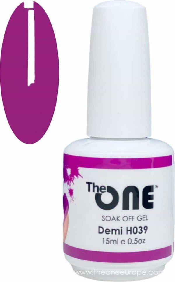 The One Pro - Gellak 15ml - kleur Demi Paars H039