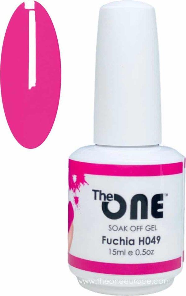 The One Pro - Gellak 15ml - kleur Fuchsia Roze H049