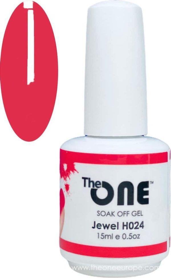 The One Pro - Gellak 15ml - kleur Jewel Rood H024