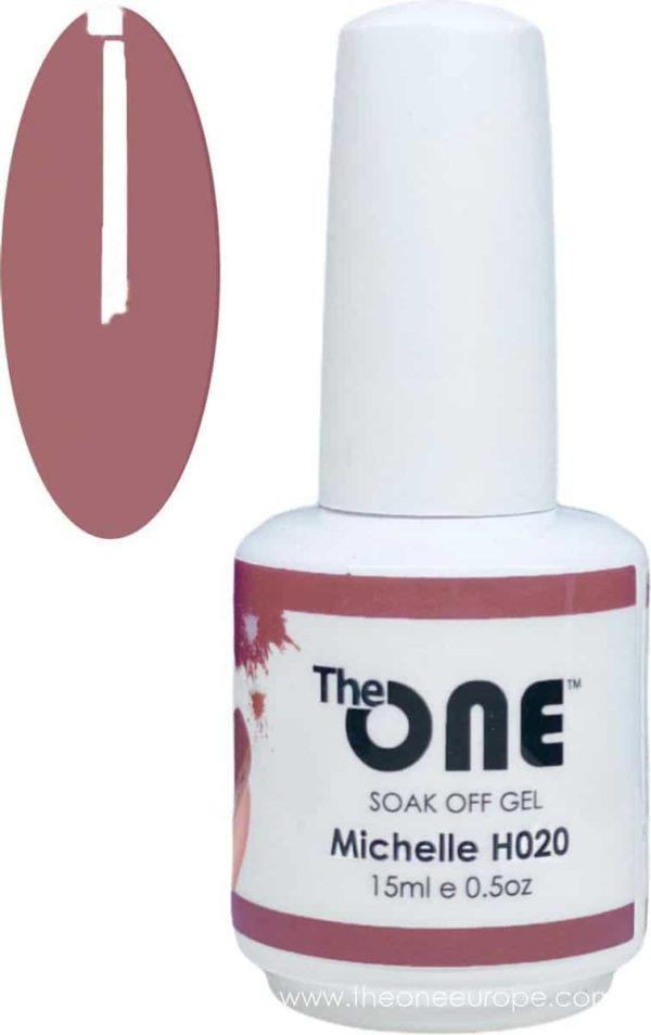 The One Pro - Gellak 15ml - kleur Michelle Paars H020