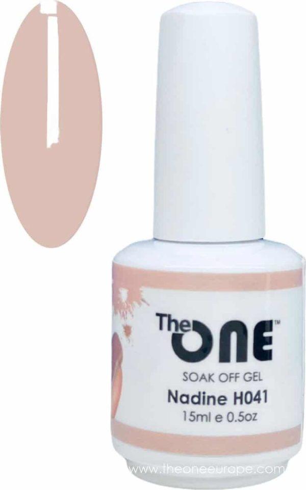 The One Pro - Gellak 15ml - kleur Nadine Neutrale H041