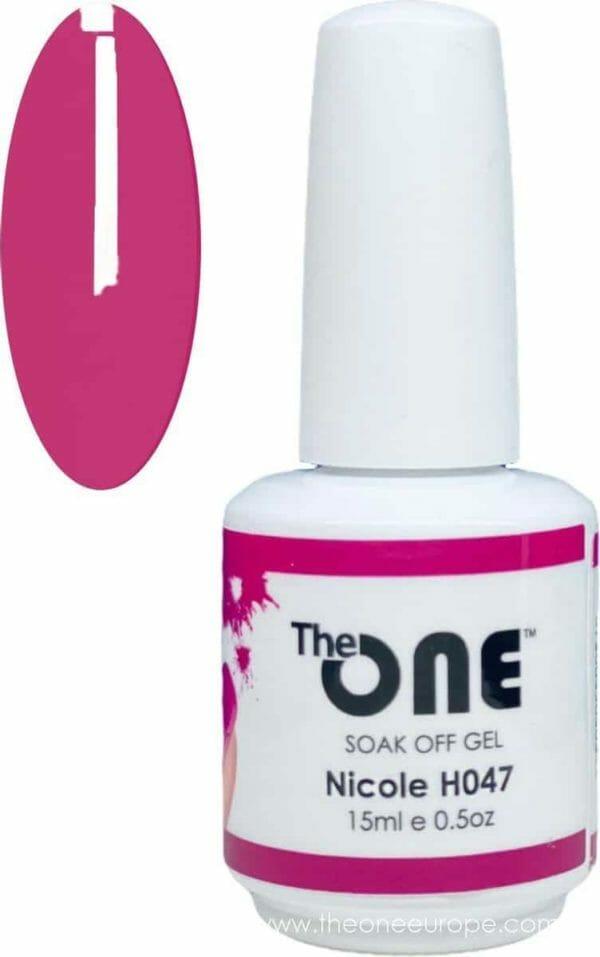 The One Pro - Gellak 15ml - kleur Nicole Rood H047