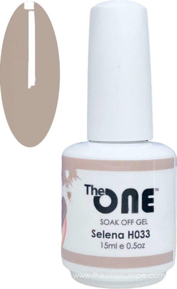 The One Pro - Gellak 15ml - kleur Selena Grijs H033