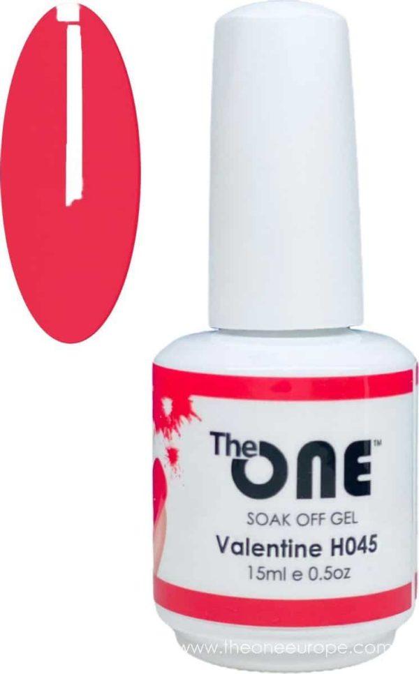 The One Pro - Gellak 15ml - kleur Valentine Rood H045