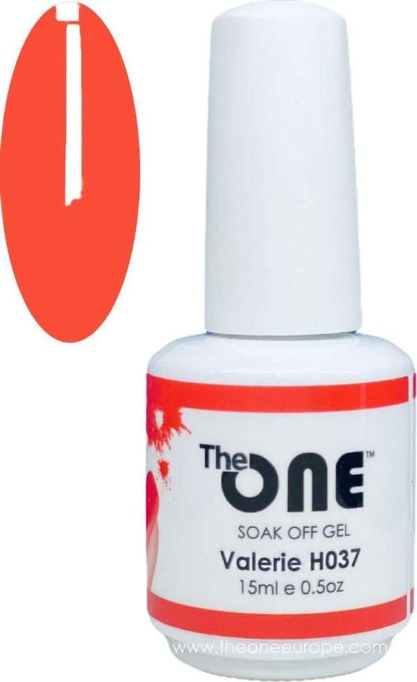 The One Pro - Gellak 15ml - kleur Valerie Oranje H037