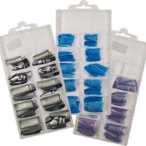 Tips - Glitter en snake set,nepnagels, kunstnagels,