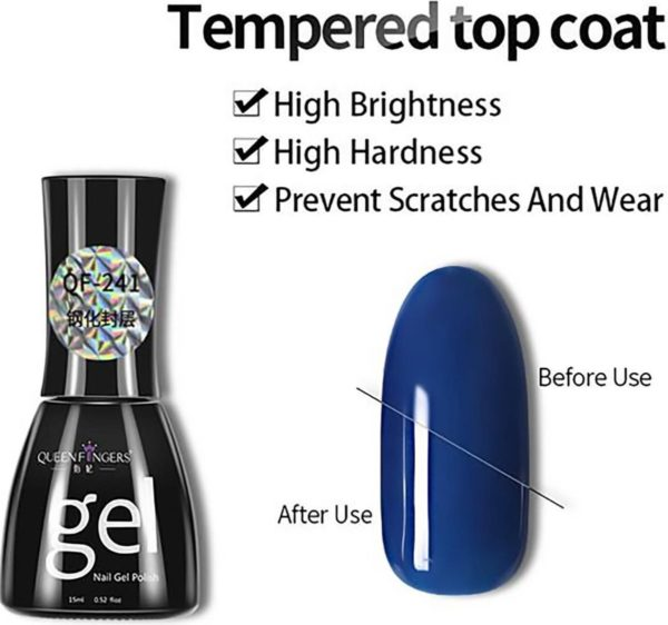 Top coat gellak - tempered - UV/LED - 15mL