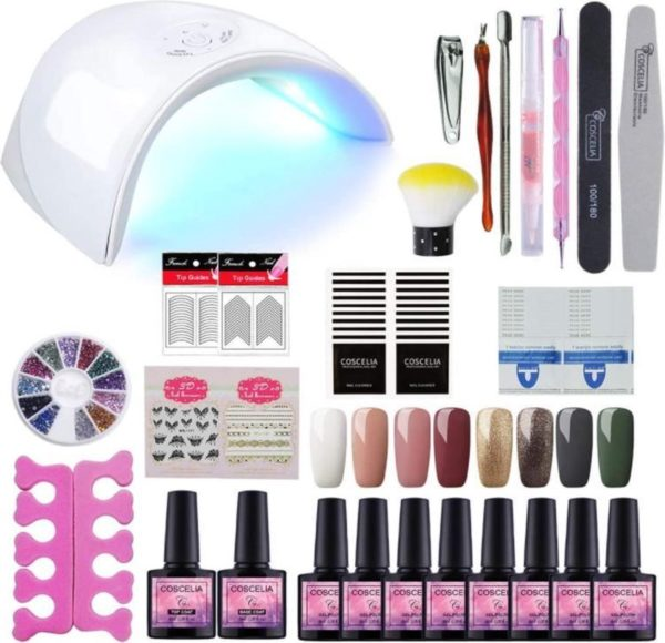 Topquality Saint-Acior gel-nagellakset, uv-gel-set, gelnageldesign, startersset, gellak-led nagellakset, gellakset
