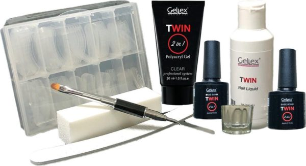 Twin Polyacryl Kit-1, Twin Polygel Starter Set, Twin Polyacryl gel Starterspakket, Twin Clear