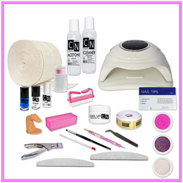 UV gel startpakket standaard, Uv gel startpakket met UV lamp,Starter Kit Set,Gelnagels Starterspakket