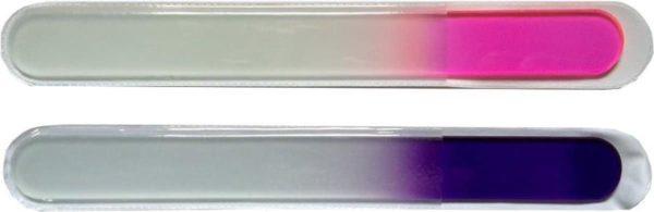 Unieke glazen nagelvijl van ongeveer 19 CM
