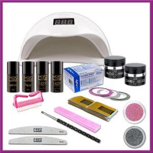 Uv gel startpakket met Sun5 lamp - 48watt - Starter Kit Set -Gelnagels Starterspakket MBS®