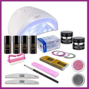 Uv gel startpakket met Sunone lamp - 48watt - Starter Kit Set - Gelnagels Starterspakket MBS®