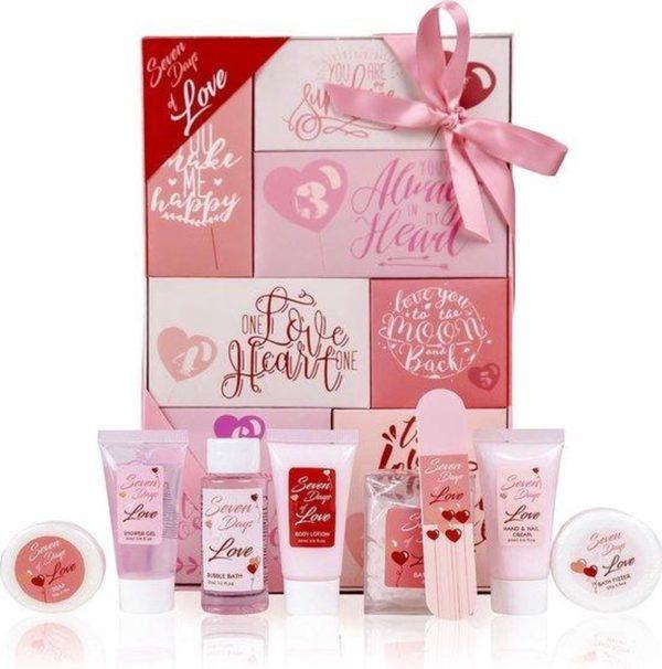 Valentijns Cadeau | Geschenkset 7 Days Of Love | Badset | Romantisch