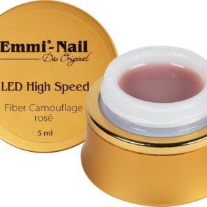 Vegan Led High Speed Fiber Camouflage Gel Rose, 5 ml