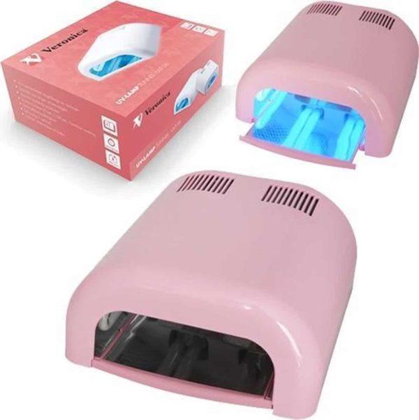 Veronica NAIL-PRODUCTS UV nagel lamp / nagel oven TUNNEL met timer UVT-36, BARBIE ROZE. Professionele nageldroger voor gels, gel polish, gel nagellak,